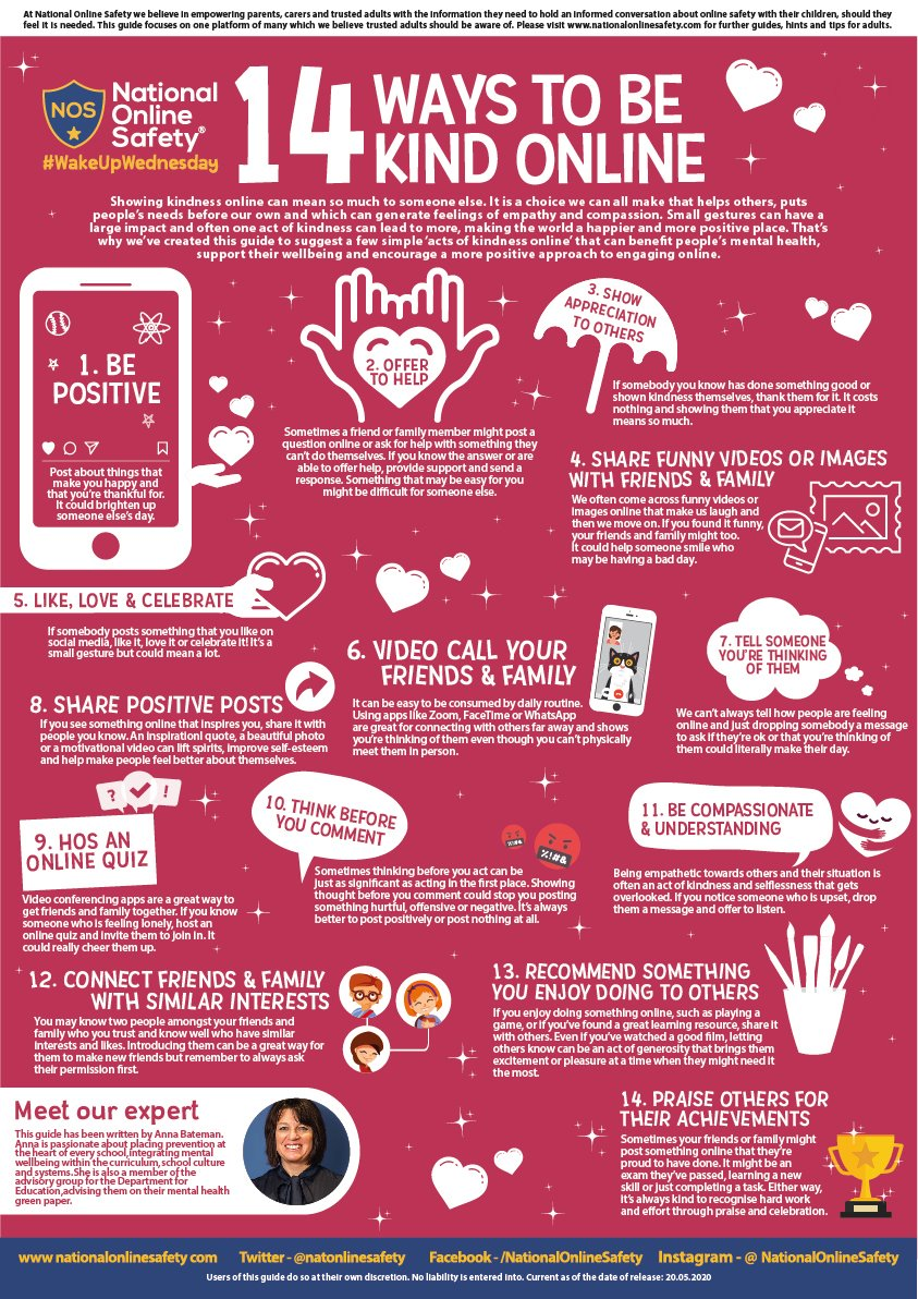 14 ways to be kind online